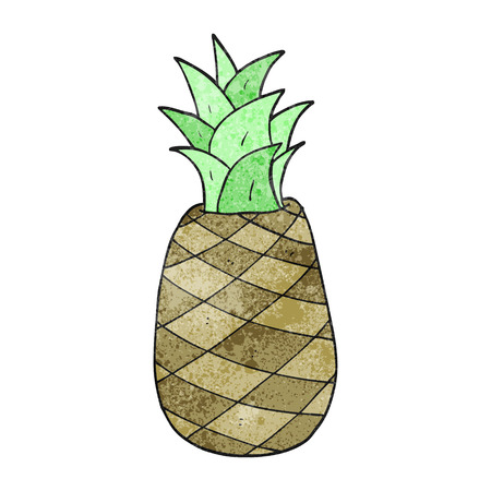 textured: freehand textured cartoon pineapple
