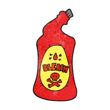 bleach: freehand textured cartoon bleach bottle Illustration