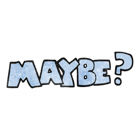 maybe: maybe freehand textured cartoon symbol
