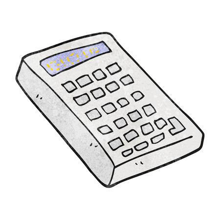 textured: freehand textured cartoon calculator Illustration