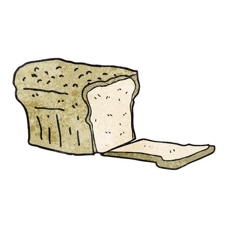 cartoon bread: freehand textured cartoon bread