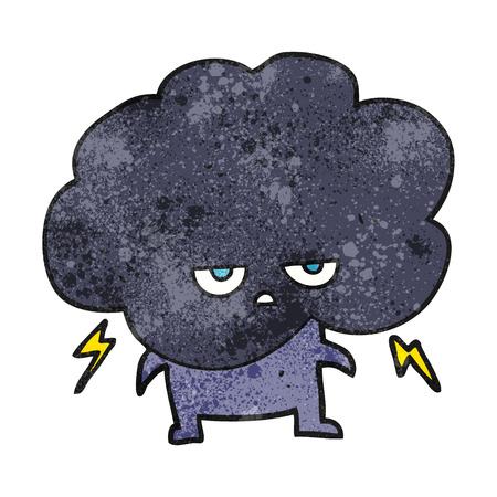 stormcloud: freehand textured cartoon raincloud