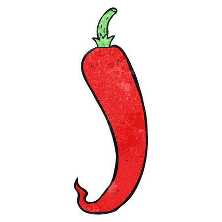 chilli pepper: freehand textured cartoon chilli pepper