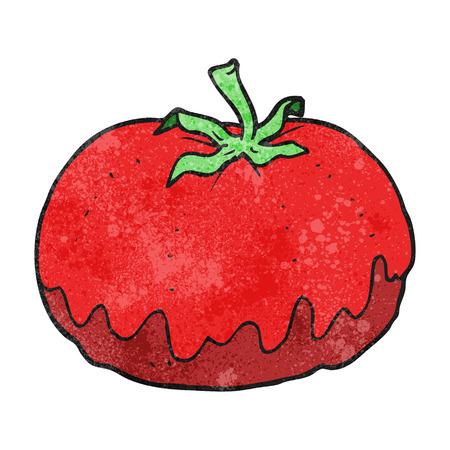 tomato cartoon: freehand textured cartoon tomato