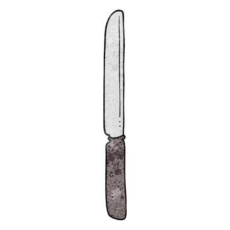 butter knife: freehand textured cartoon cutlery knife Illustration