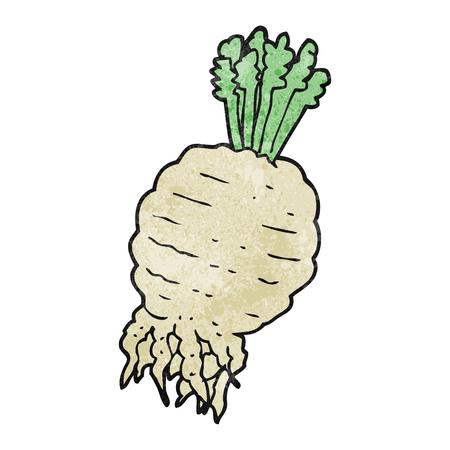 turnip: freehand textured cartoon turnip