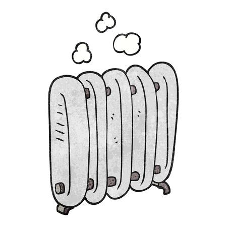 radiador: a mano alzada con textura del radiador de dibujos animados Vectores