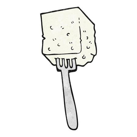 tofu: freehand textured cartoon tofu Illustration