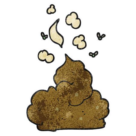 stinking: freehand textured cartoon gross poop