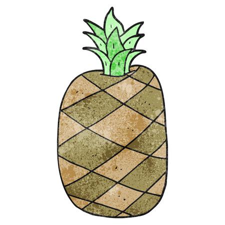 cartoon pineapple: freehand textured cartoon pineapple