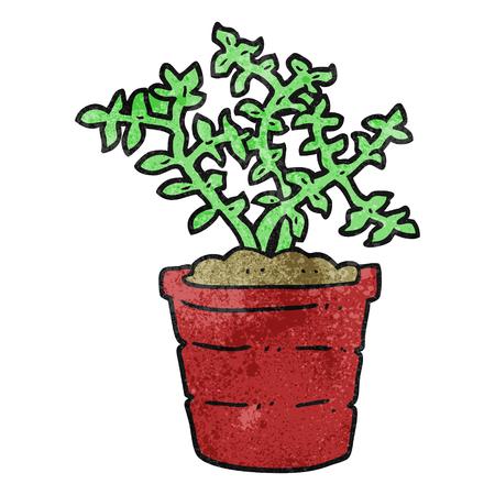 textured: freehand textured cartoon plant Illustration