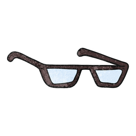 spectacles: freehand textured cartoon spectacles