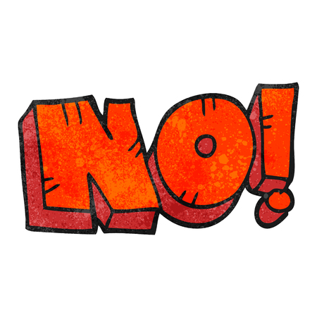 shout: freehand textured cartoon NO! shout