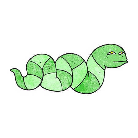 snake cartoon: freehand textured cartoon snake