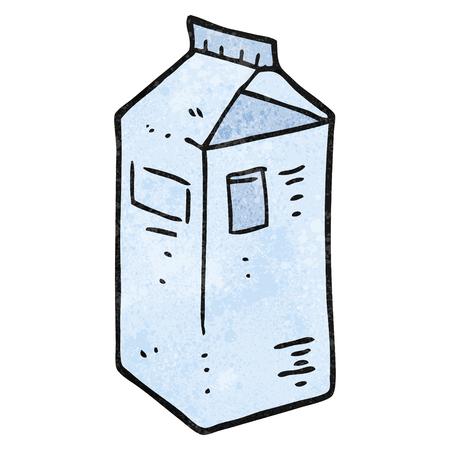 carton de leche: a mano alzada de dibujos animados con textura de cart�n de leche Vectores