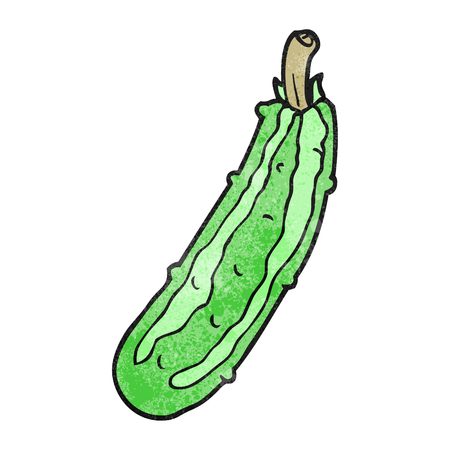 courgette: freehand textured cartoon zucchini Illustration
