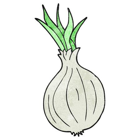 textured: freehand textured cartoon onion