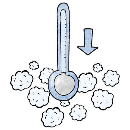 dropping: freehand textured cartoon dropping temperature