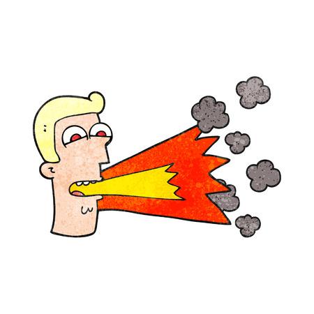 shouting: freehand textured cartoon shouting man