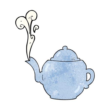 textured: freehand textured cartoon teapot
