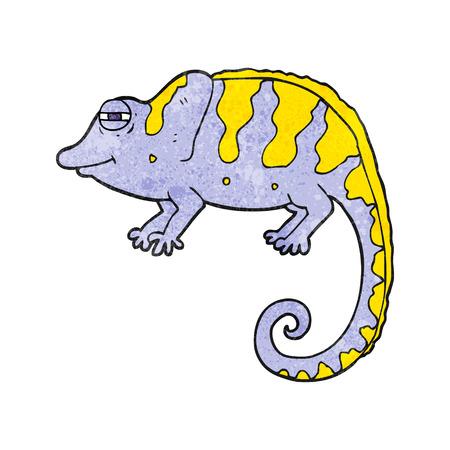 chameleon: freehand textured cartoon chameleon