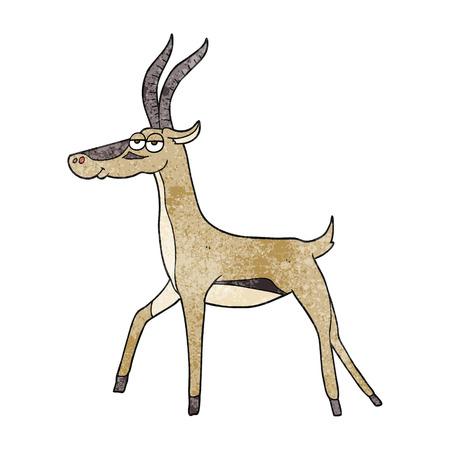 gazelle: freehand textured cartoon gazelle