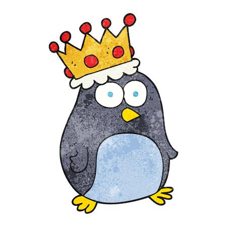 emperor: freehand textured cartoon emperor penguin
