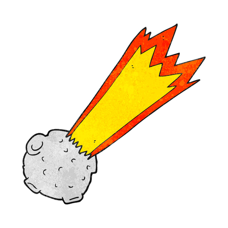 meteor: freehand textured cartoon meteor Illustration