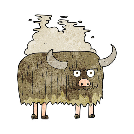 smelly: freehand textured cartoon smelly cow