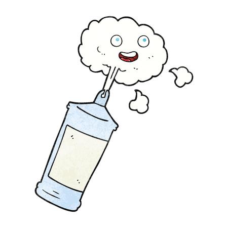 spraying: freehand textured cartoon spraying whipped cream