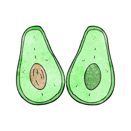 avocado: freehand textured cartoon avocado