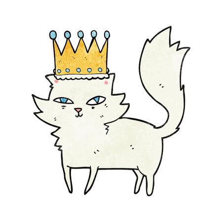 upper class: freehand textured cartoon posh cat Illustration