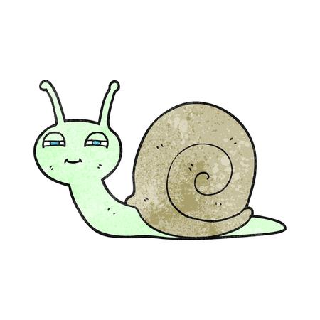 cute cartoon: freehand textured cartoon cute snail Illustration