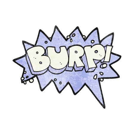 burp: freehand textured cartoon burp symbol