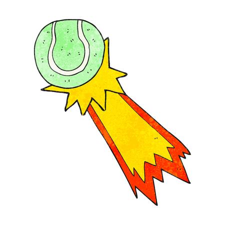 tennis serve: freehand textured cartoon tennis ball serve