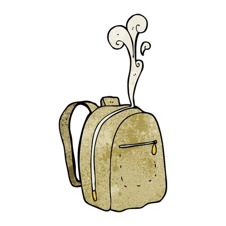 textured: freehand textured cartoon rucksack