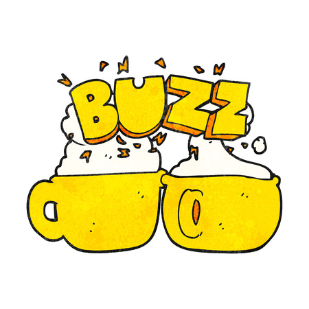 coffee cups: freehand textured cartoon coffee cups Illustration
