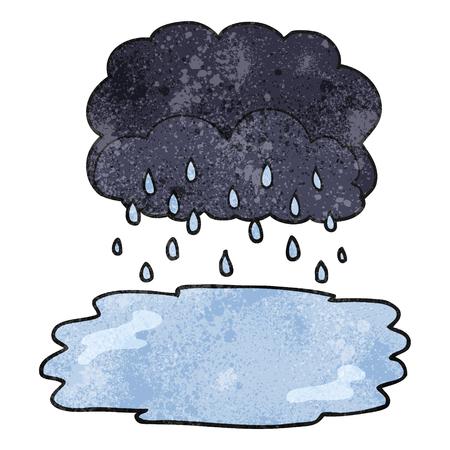 stormcloud: freehand textured cartoon rain cloud