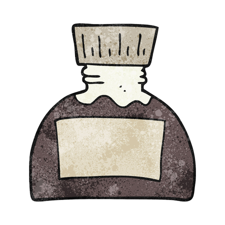 ink pot: freehand textured cartoon ink pot
