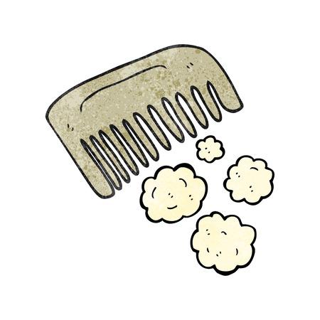 textured: freehand textured cartoon comb Illustration