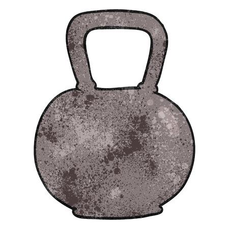 kettle bell: freehand textured cartoon 40kg kettle bell weight