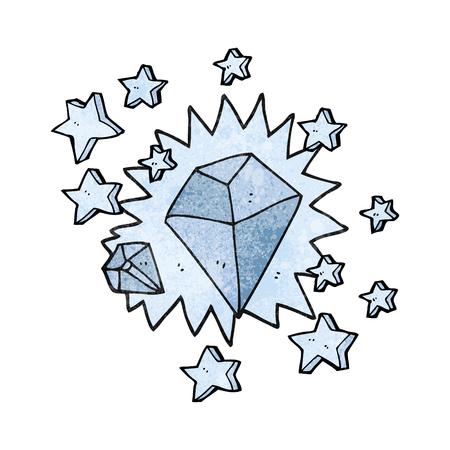sparkling: freehand textured cartoon sparkling diamond Illustration