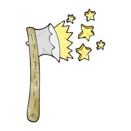 sharp: freehand textured cartoon sharp axe Illustration