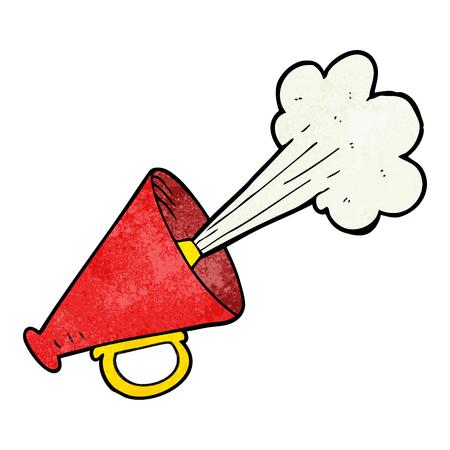 loudhailer: freehand textured cartoon loudhailer