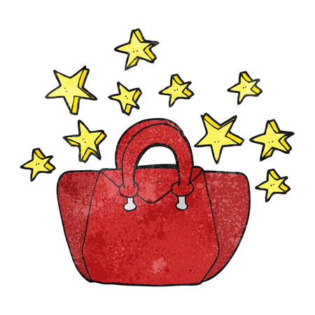 is expensive: freehand textured cartoon expensive handbag