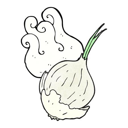 textured: freehand textured cartoon garlic