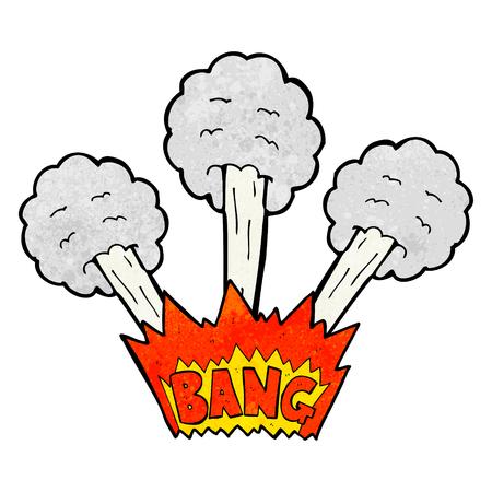 textured: freehand textured cartoon explosion Illustration