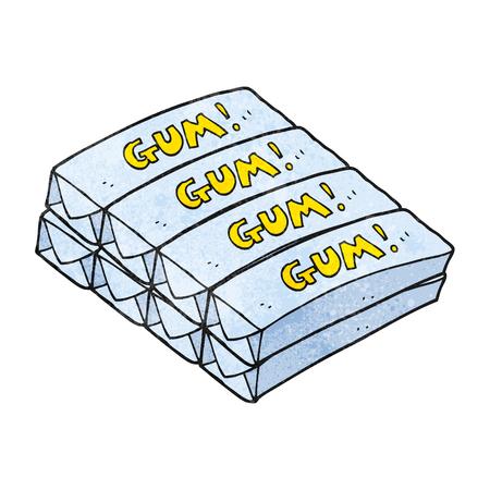 chew: freehand textured cartoon chewing gum