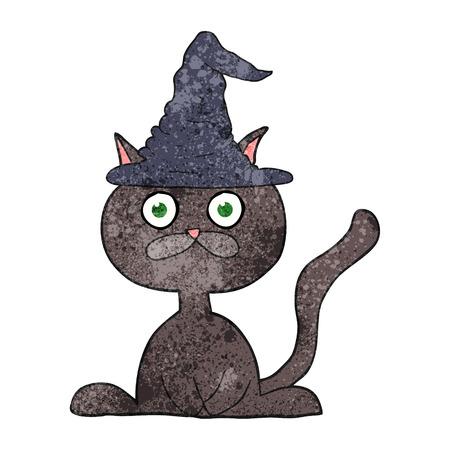 a mano libera cartone animato strutturato halloween gatto