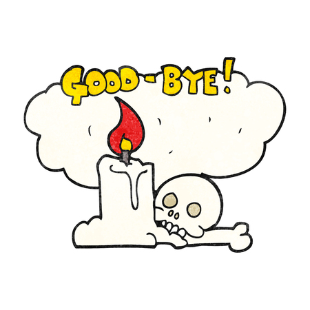 goodbye: freehand textured cartoon goodbye sign
